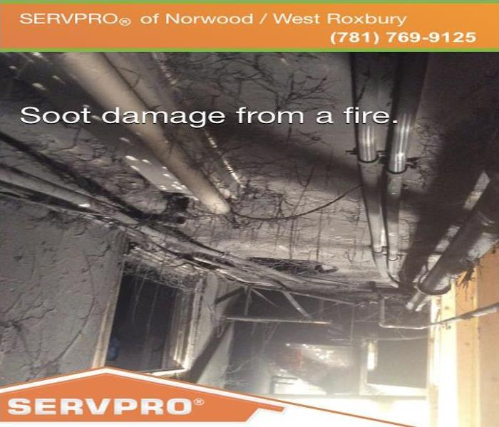 Soot Damage From Fire Before