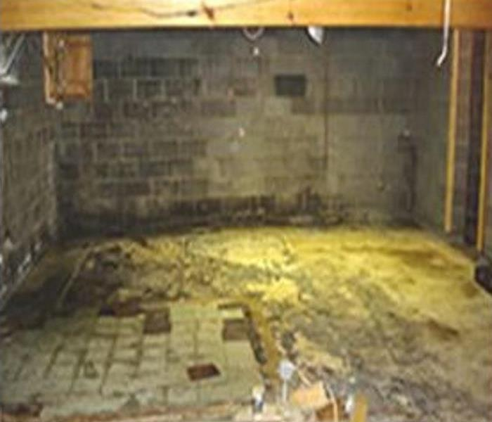 Basement Water Damage - Westwood, MA Before